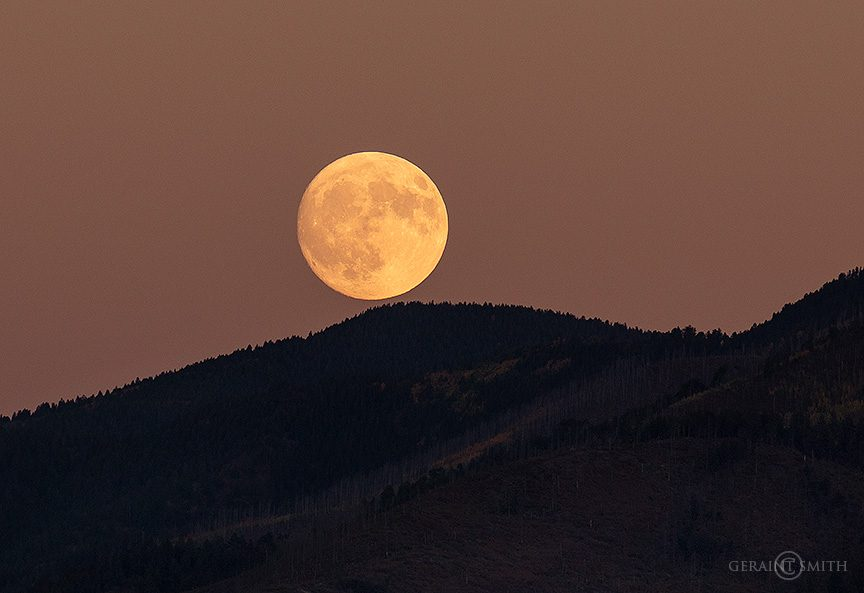 Harvest Moon Rising Over Taos Pueblo