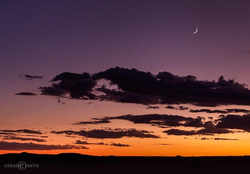 Venus, Crescent Moon Over The Plateau
