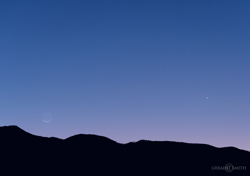 Venus, Crescent Moon, Sangre De Cristos