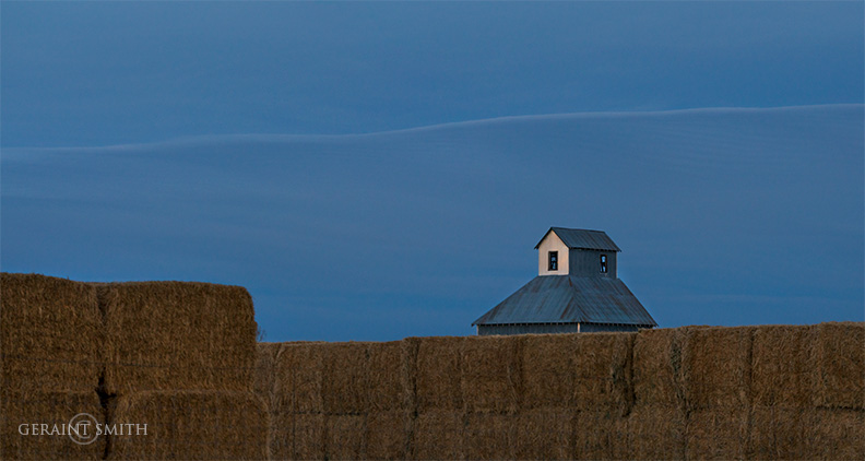 Grain elevator and hay bales