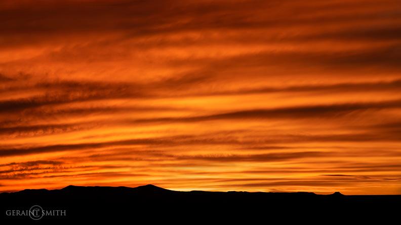 Jemez Mountains, Cerro Pedernal Sunset