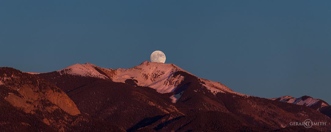 Grand Vista, Moonrise Over Vallecito Peak