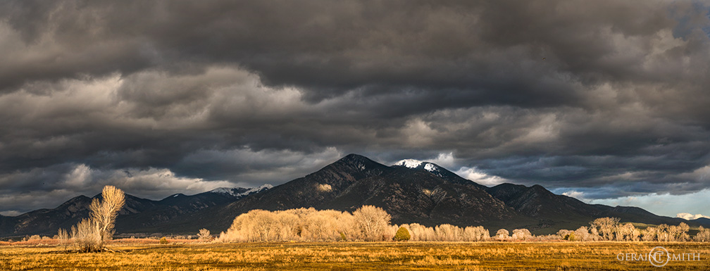 Stormy Skies, Taos Mountain