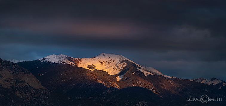 Spotlight The Sangre De Cristo Mountains
