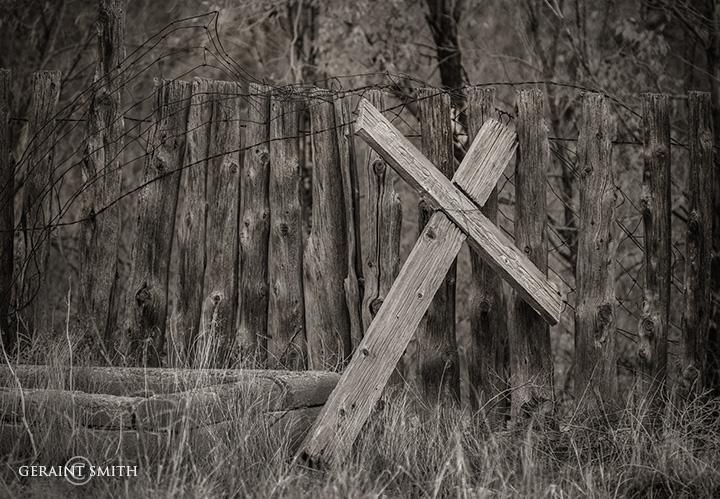 Wooden Cross, Cemetery, Questa, NM