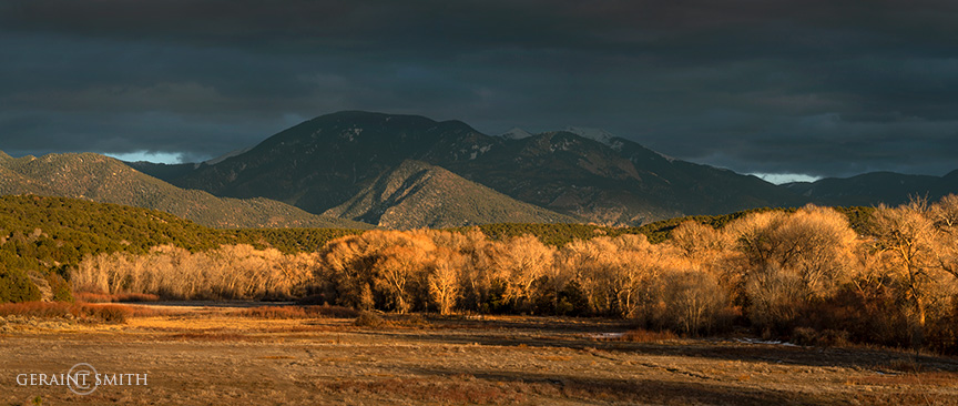 Arroyo Hondo Valley, Evening Light