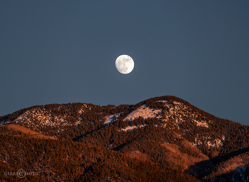 Bright Moon Over The Sangre de Cristos