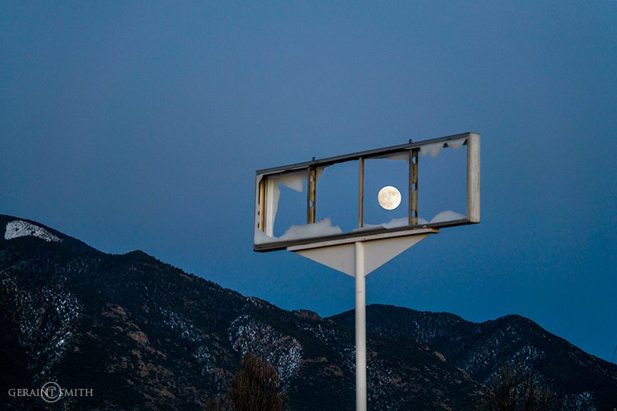 Framed Mountain Moon