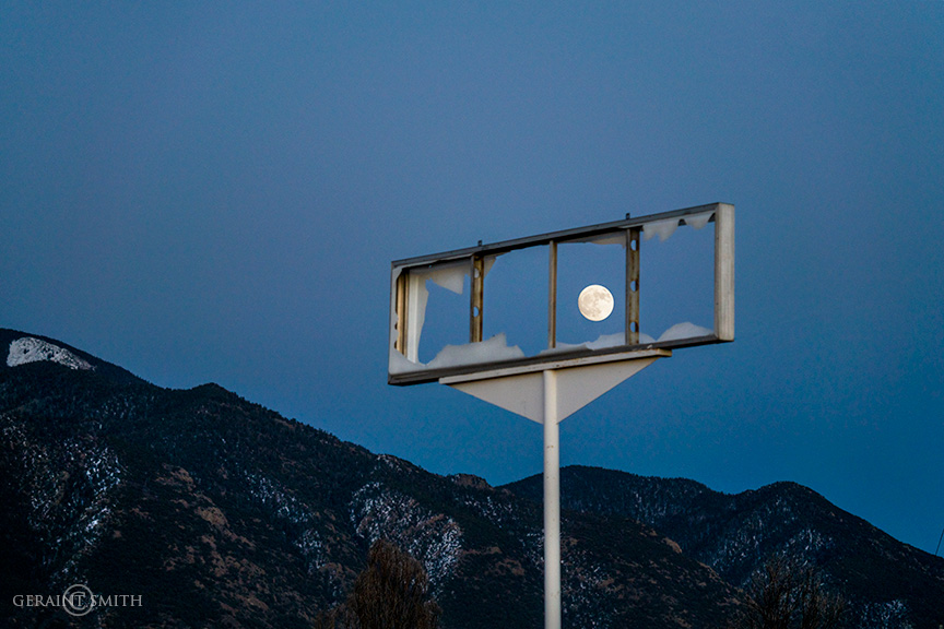 Framed Mountain Moon