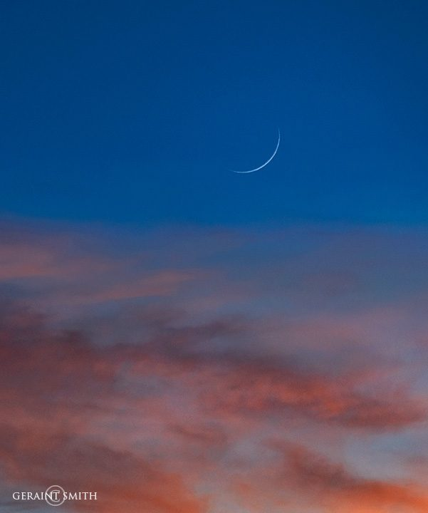 Wolf Moon, Waxing Crescent, Sunset