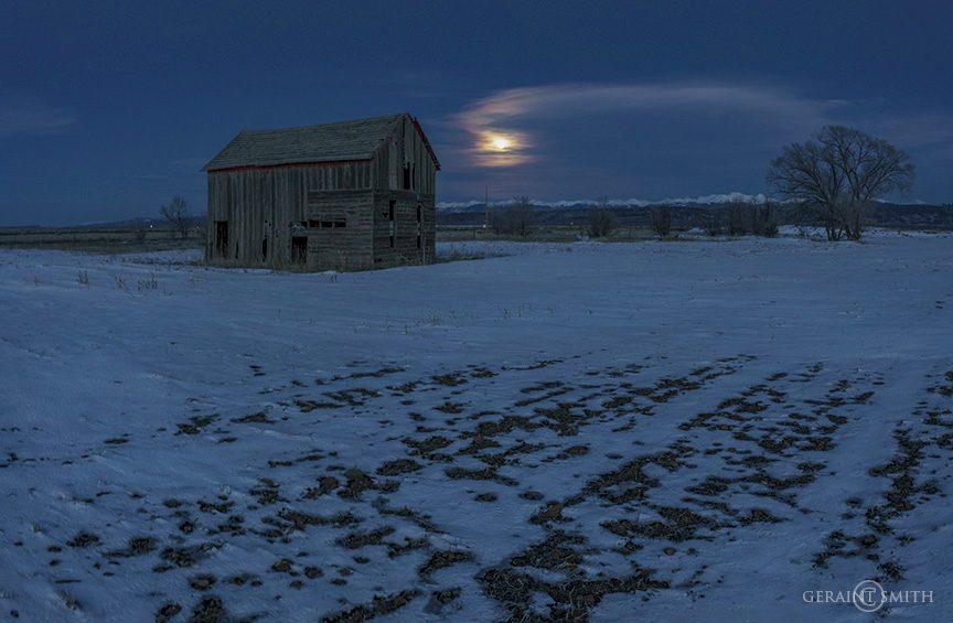 Rural Colorado Moonrise, San Luis Valley