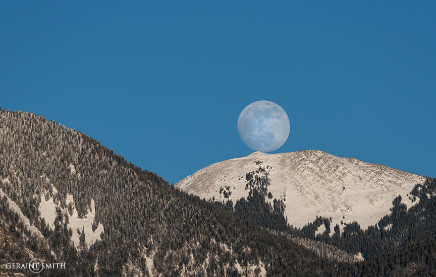Pueblo Peak, Taos Mountain Moonrise