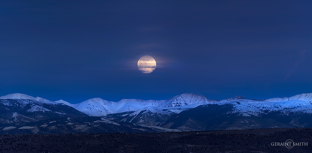 Southern Rocky Mountain Moon Rise