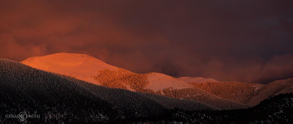 Sangre de Cristo mountains sunset