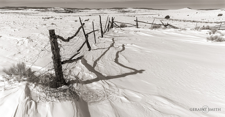 Winter Corral Fence, On The Plateau