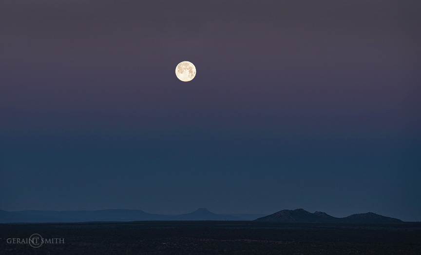 Moon set South West Of Taos