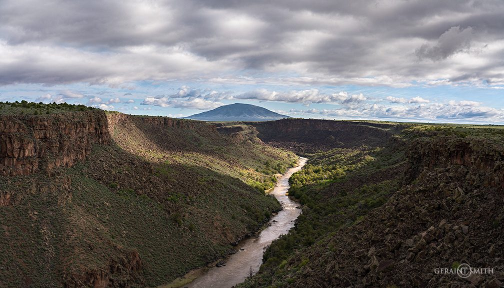 Sheep's Crossing on the Rio Grande, with Ute Mountain.
