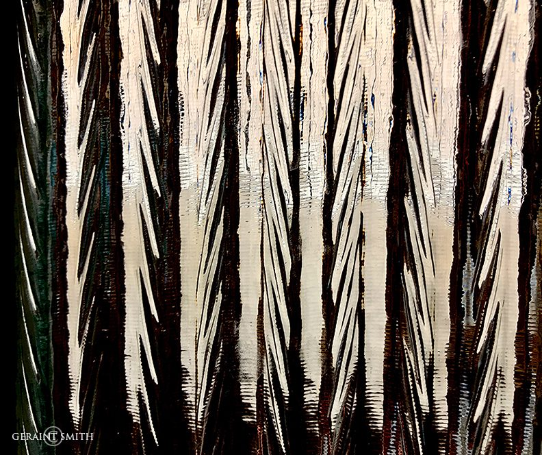 Washboard glass abstract