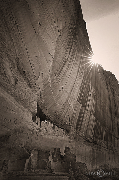 Sun star, Canyon De Chelly, White House Ruin Arizona