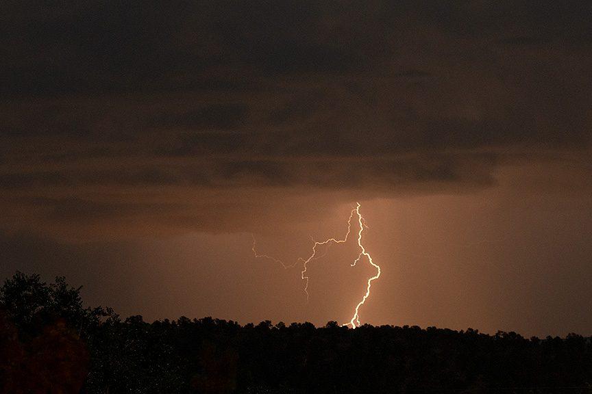 Lightning over Taos from San Cristobal NM