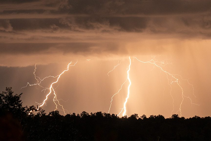 Lightning over Taos NM