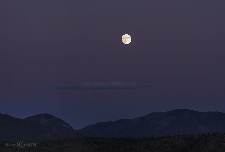 Moonrise, Taos Mountain, San Cristobal