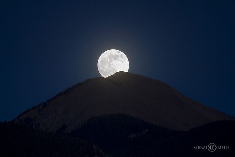 Moon Rising, Sangre de Cristo Mountains