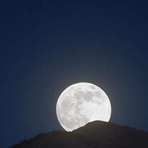 Moon rising over the Sangre de Cristo Mountains, NM.