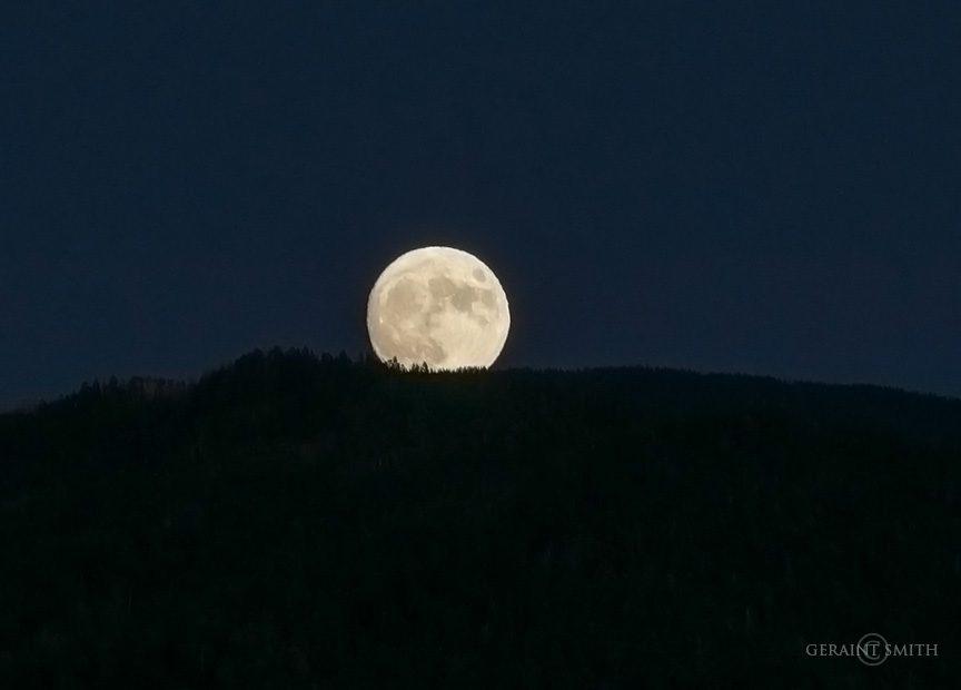 Harvest Moon Rising, Sangre de Cristo Mountains