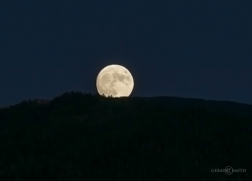 Harvest Moon Rising, Sangre de Cristo Mountains