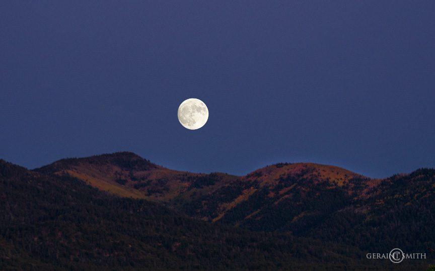 Sangre De Cristo Foothills Moon Rise