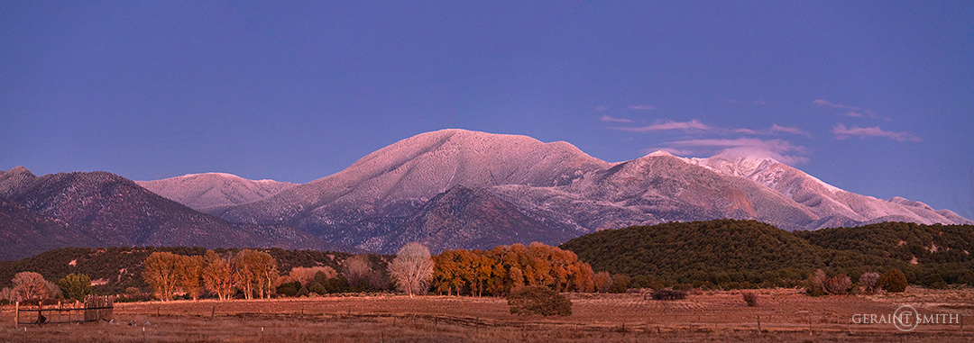 Sangre De Cristo Mountains, last light