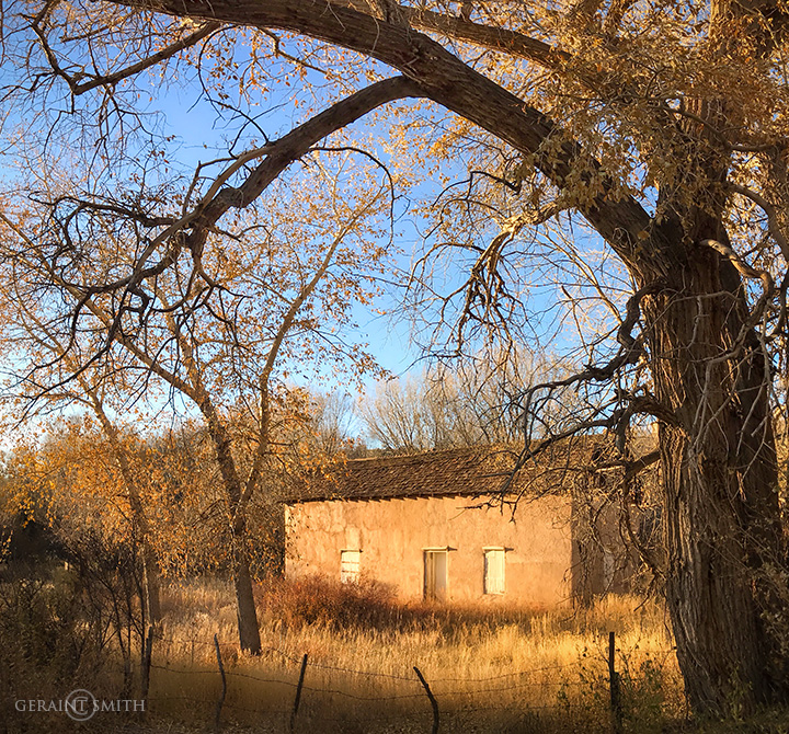 Adobe, Light, Fall, Questa, NM