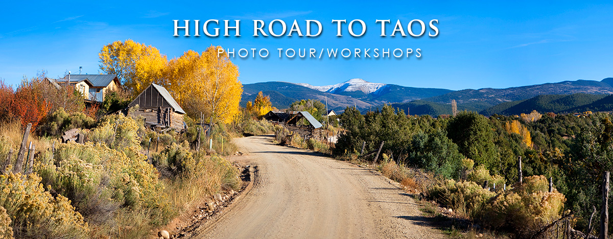Photo tour/workshops on the High road to Taos
