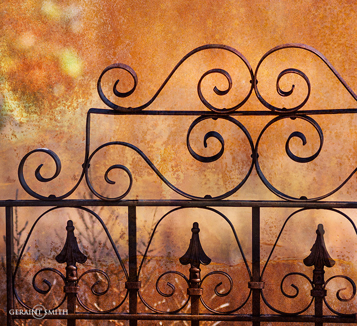 Iron gate, rust, at an abandoned homestead in the San Luis Valley