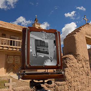 Photo of the day archive, Las Trampas Church with view camera