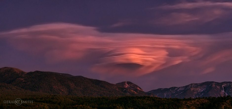 Lenticular Clouds, Sangre De Cristo Mountains, NM