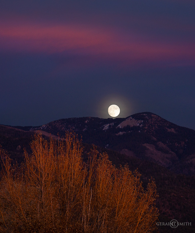 Moonrise, Sangre De Cristo Mountains, NM