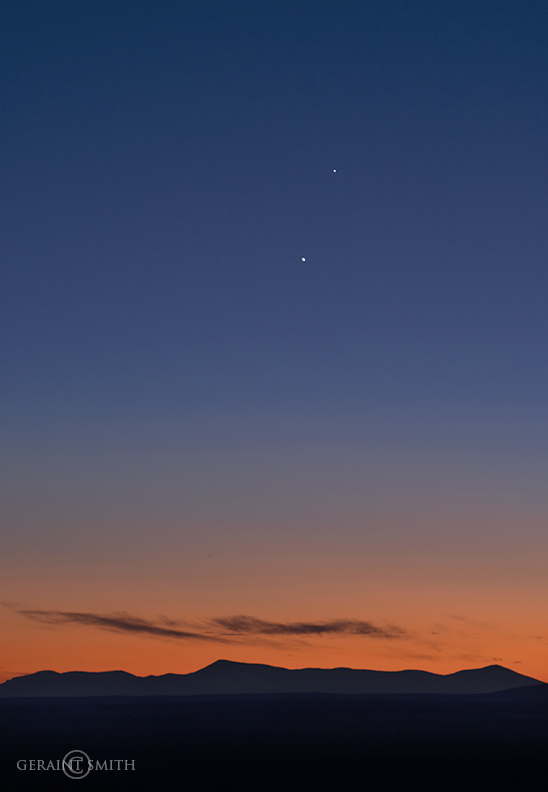 Venus, Jupiter, Jemez Mountains