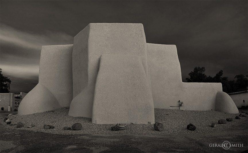 Winter's past, Saint Francis Church, Ranchos De Taos, NM