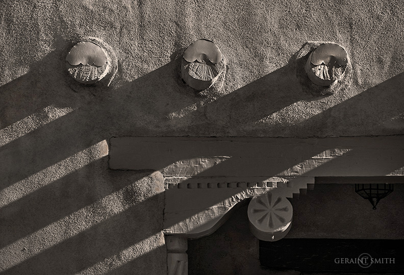 Texture, Corbels, Vigas, and Shadows, Taos, NM.