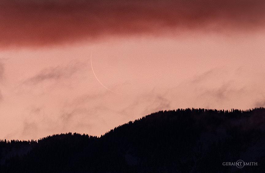 Sliver, Crescent Moon, Sangre De Cristos, NM