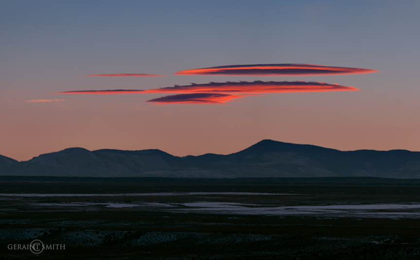 Jemez Mountains, Sunset, Lenticular Clouds