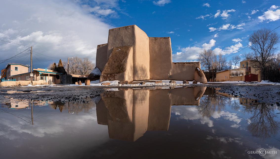 Saint Francis Church Plaza, reflections.