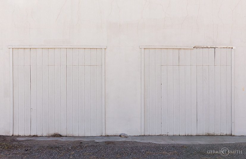 White abstract, Estancia, New Mexico.