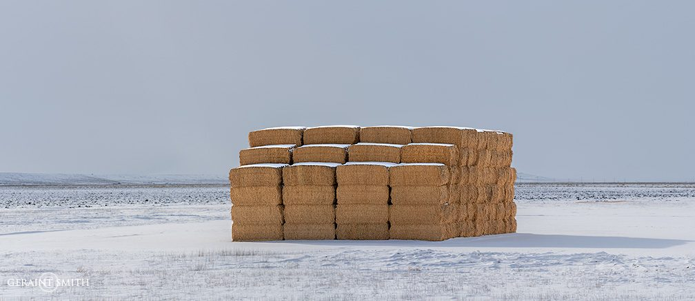 Winter Hay Bales, San Luis Valley, CO