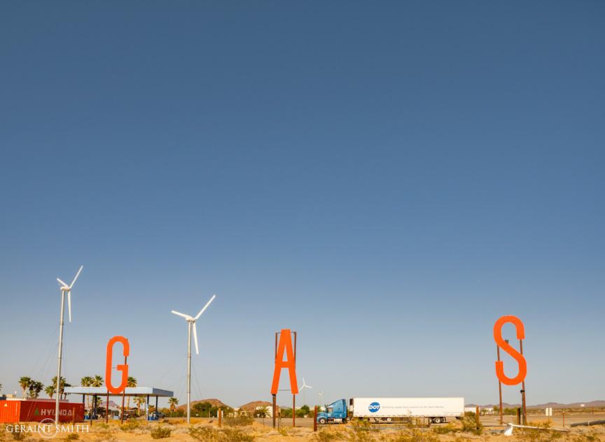 Gas, Mohave Desert, California.