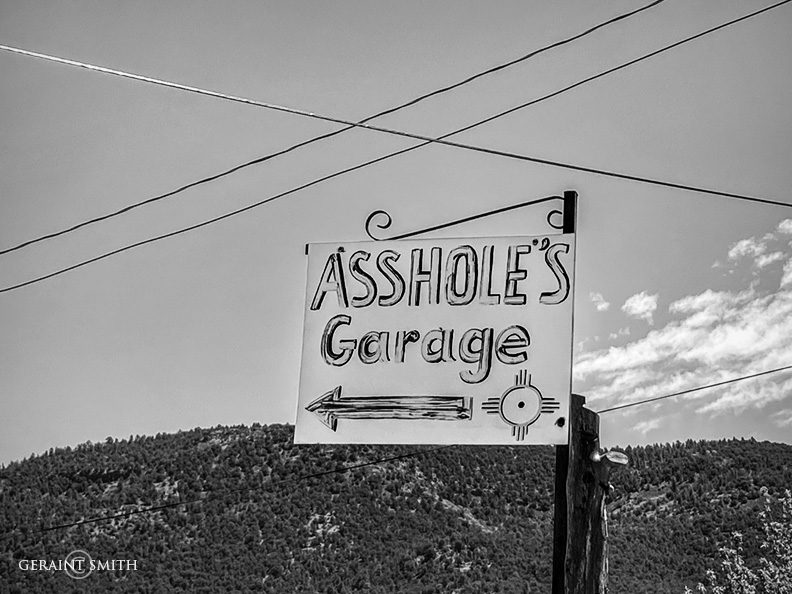 Signs of the times, Vallacitos, NM.