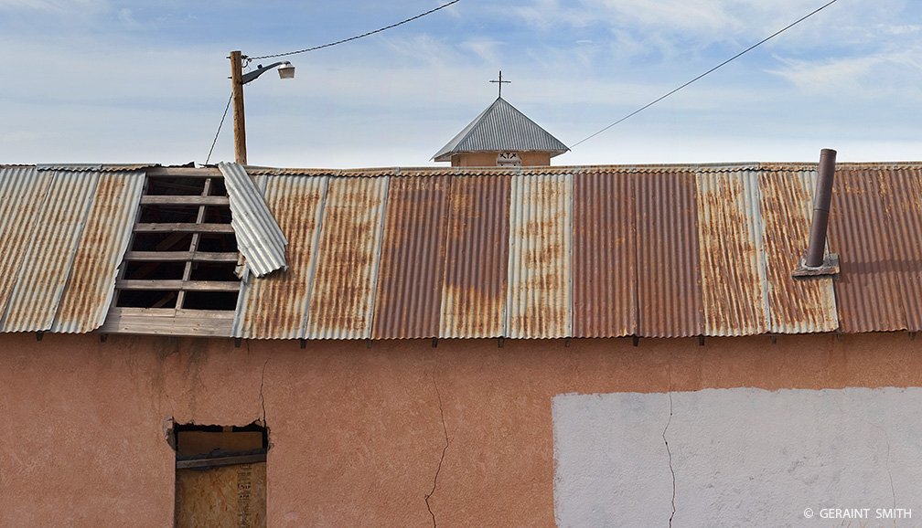 Tin roof, Truchas on the High Road to Taos