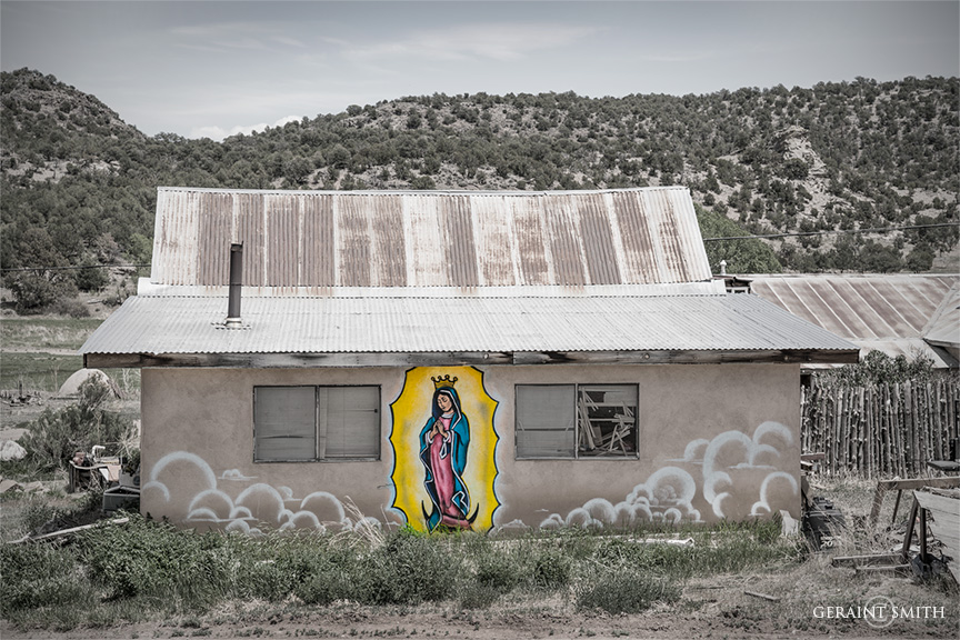 Guadalupe, home, Servilleta, New Mexico.